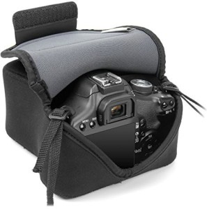 USA Gear USA GEAR DuraNeoprene DSLR FlexARMOR Sleeve Case - Works With Nikon D3400 , Canon EOS Rebel T6 , Pentax K-70 and Many Other DSLR Cameras  Camera Bag