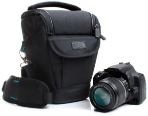 USA Gear Weather Resistant DSLR Zoom Holster Carrying Case Bag by USA Gear (Medium Size) - Works With Nikon D3300 , Canon E0S Rebel T6 , Panasonic Lumix DMC-FZ300 and More  Camera Bag