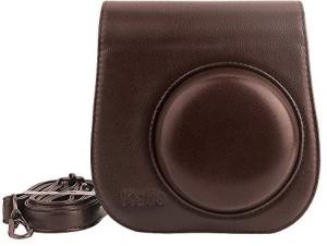 Katia Mini 8 case, PU Leather Camera Case with Shoulder Strap and Pocket for Fujifilm Instax Mini 8 Camera  Camera Bag