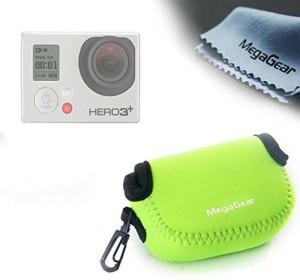 MegaGear ''Ultra Light'' Neoprene Camera Case Bag with Carabiner for GoPro HERO5, GoPro, GoPro HD, GoPro HERO3+, HERO4, Sj4000, Sj5000 Camera (Green)  Camera Bag