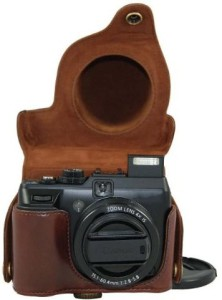 MegaGear Ever Ready Protective Dark Brown Leather Camera Case, Bag for Canon PowerShot G1X , G1 X  Camera Bag