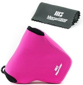 MegaGear ''Ultra Light'' Neoprene Camera Case Bag with Carabiner for Canon PowerShot G3 X G3X Digital Camera (HotPink)  Camera Bag