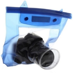 Tuzech Fully Waterproof Pouch For DSLRs (Universal - 80MM Lens)  Camera Bag