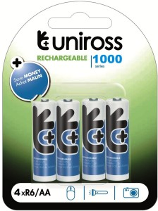UNIROSS NIMH1000AABP4  Camera Battery Charger