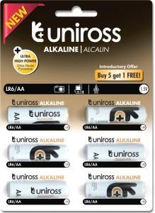 Uniross Ultra High Power Alkaline Buy 5 get 1 Free  Camera Battery Charger