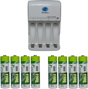 Power Smart Fast Charging Unit PS345 Combo With 2 Set 1100mahx4 AA Cells  Camera Battery Charger