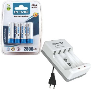 Envie Polo ECR-4 With 4xAA 2800 Ni-MH rechargeable  Camera Battery Charger