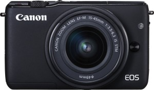 Canon EOS M10 with EF-M15-45 mm f/3.5 - 6.3 IS STM Mirrorless Camera