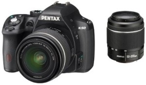 Pentax K 50 Double (DAL 18-55 mm WR + DAL 50-200 mm WR) Lens Mirrorless Camera