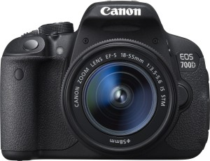 Canon EOS 700D DSLR Camera (Body with EF S18 - 55 mm IS II and EF S55 - 250 mm IS II)