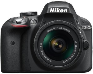 Nikon D3300 DSLR Camera (Body with AF-P DX NIKKOR 18 - 55 mm F3.5 - 5.6 VR Kit Lens)