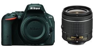Nikon D5500 DSLR Camera Body with Single Lens: DX AF P NIKKOR 18 55 mm F/3.5   5.6G VRII Kit lens  16  GB SD Card + Camera Bag  Black