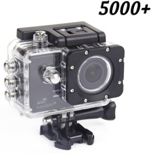 SJCAM 5000 Wifi + Sjcam Sj5000+ Water Resistant Helmet Head Video Camcorder (Black) Sports & Action Camera