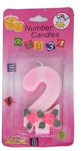 Indigo Creatives Year 2 Birthday Candle