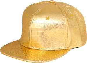 Merchant Eshop Golden Stylish Funky Mat Design Hip Hop Cap