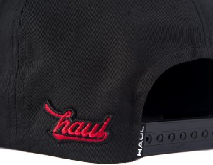 ac2c68a8f3b Haul Apparel Embroidered Kathakali Hip Hop Black and Red Snapback ...