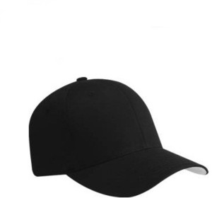 9b437d8ca Alamos Solid Stylish Black Baseball Cap Best Price in India | Alamos ...