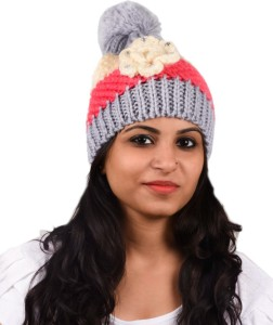 Tiekart Floral Print Winter Knitted Cap Cap Best Price in India ... 7181384f78b