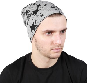 Noise Fault in our stars Beanie-Light Grey Printed Skull Cap