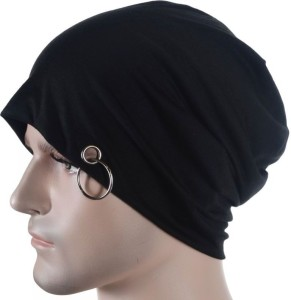 Sabhya Sakshi Solid Beanie with silver ring Cap