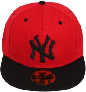 bd92a360 ILU Solid NY caps red black cotton Baseball caps Hip Hop Caps men women  girls boys Snapback Best Price in India | ILU Solid NY caps red black cotton  ...