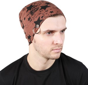 e281b6efcef Noise Fault in our stars Beanie Brown With Ring Printed Skull Cap Best  Price in India