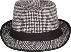 7733dd4f8d3 FabSeasons Checkered Fedora Hats Cap Best Price in India ...