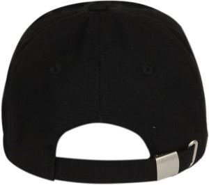 67639deeca7 ALAMOS Solid Cool Black Plain Cap Best Price in India