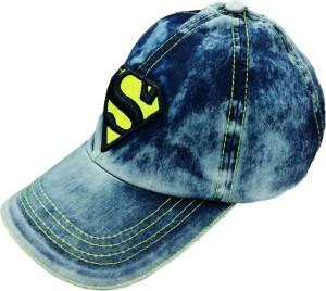 Friendskart Solid Blue jeans Superman Cap