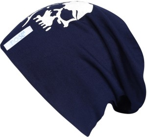 Noise Focus on Airking Blue Beanie With Ring Printed Skull Cap Best ... 0299fa99d44