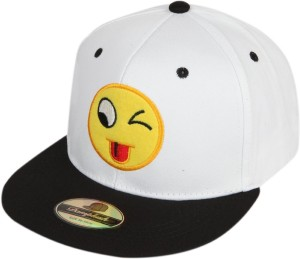 f3af1cf1a4f56 ILU Solid Smiley caps white cotton Baseball caps Hip Hop Caps men women  girls boys Snapback Best Price in India