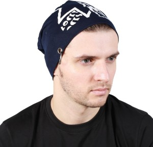 7c1d4546dca Noise Rocky Rocks Blue Beanie With Ring Printed Skull Cap Best Price in  India
