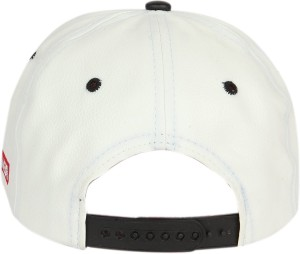 1579551786b ILU Solid caps white faux leather Cap Best Price in India