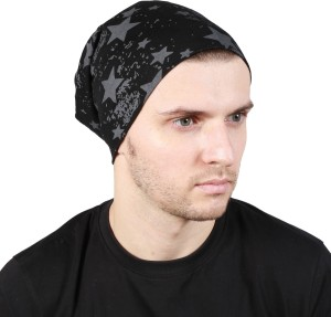 Noise Fault in our stars Beanie-Black Printed Skull Cap