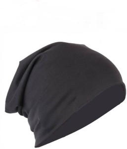 51c2c2d37 ALAMOS Solid Black Beanie Skull Cotton Cap Best Price in India ...