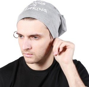 1576f19894d Noise Focus on Airking Grey Beanie With Ring Printed Skull Cap Best Price  in India