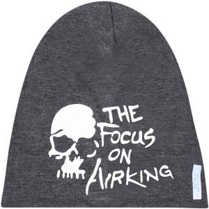 b3986df4f4f Noise Focus on Airking Dark Grey Beanie Printed Skull Cap Best Price ...