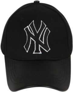 ILU Solid NY caps black cotton leather Baseball caps Hip Hop Caps ... f174791f9d30