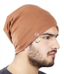 Noise Walnut Brown Solid Skull Cap