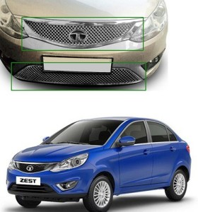 Carsaaz N0372 Bentley Type Front Chrome Grill For Tata Zest Car Grill Coverplastic Tata Zest