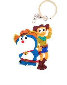 asa products nobita and doremon cowbouy locking key chain multicolor