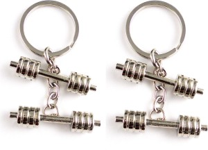 Target Retail dumbbell dumble metal for car and bikes set of 2 pcs Key  ChainSilver