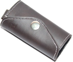 94495989b5c11 Aura Faux Leather Small Pouch Locking Key Chain Brown Best Price in ...