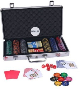 Casinoite Monte Carlo 300 Pcs Dark Millions Clay Pro Poker Chip Set Toy  MPMulti-color
