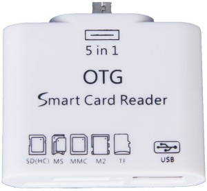 ADMI 5 in 1 Micro USB OTG Card Reader SD M2 TF Connection Kit for Smart Phones & Tab (White) Card Reader