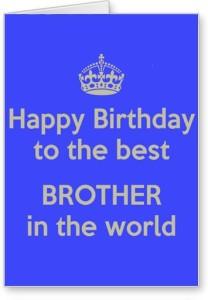 Lolprint Happy Birthday Brother Greeting Card