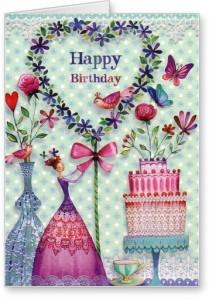 Lolprint Happy Birthday Greeting Cardmulticolor Pack Of 1