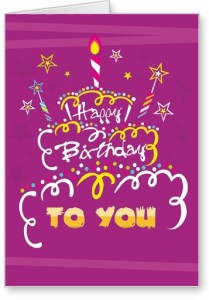 Lolprint Happy Birthday To You Greeting Card ( Multicolor Pack of 1 ) Price List :