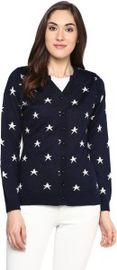 Miss Forever Women's Button Polka Print Cardigan