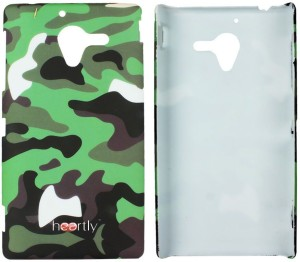 sports shoes 17350 2c188 Heartly Back Cover for Sony Xperia ZL L35H/L35I/C6502Army Green, Plastic